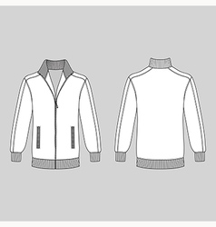Sleeve jacket with zipper vector