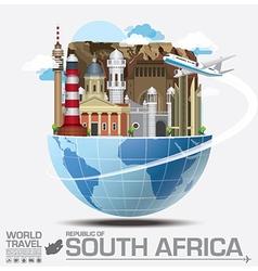 South Africa Landmark Global Travel And Journey vector
