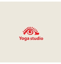 Template logo for yoga studios vector