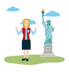 Tourist guide cartoon vector