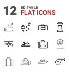 Trip icons vector