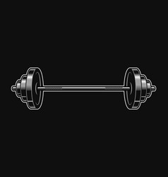 Vintage metal barbell icon vector