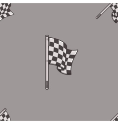 Vintage speed flag patern vector image