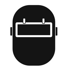 Welding mask icon simple vector