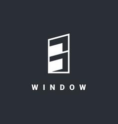 Window logo design template vector