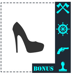woman shoes icon flat vector image