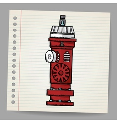 Fire Hydrant Doodle style vector image vector image