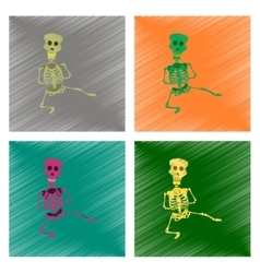 assembly flat shading style icon skeleton vector image