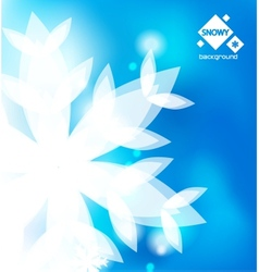 blue winter abstract backround vector image