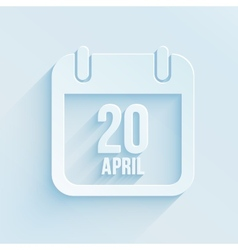 calendar apps icon 20 april 2014 Easter day vector image