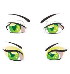 Cartoon Green Eyes vector image vector image