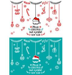christmas design elements christmas design vector image vector image