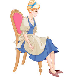 cinderella ready to wear the glass slipper vector image