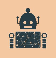 cute vintage robot vector image