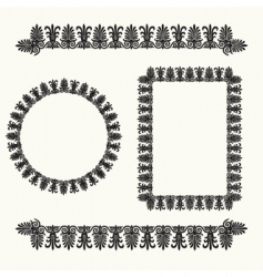 floral border elements vector image vector image