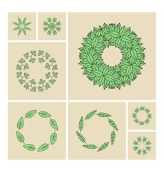 Floral Elements Printing for Natural vector image vector image