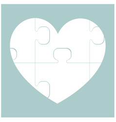 heart with puzzle the white color icon vector image