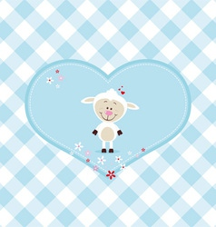 Lovely sheep in a big heart vector image