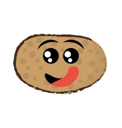 potato expressions hungry face vector image