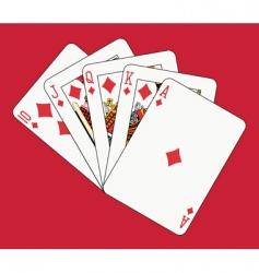 royal flush diamonds vector image vector image