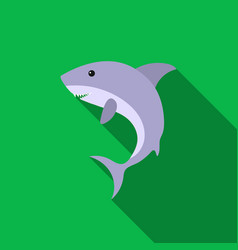 shark icon flat singe animal icon from the big vector image vector image