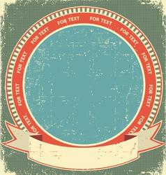 vintage label background vector image vector image