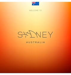 World Cities labels -Sydney vector image