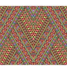 Bright seamless pattern with ethnic ornament vector image