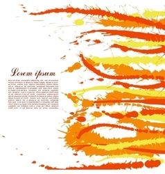 Colorful abstract yellow and orange splashes and vector image vector image
