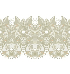 Ethnic horizontal seamless pattern Indian ornament vector image vector image