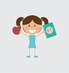 Happy girl vector image