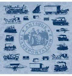 transportation antique set vector image