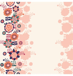 floral background with a place for text vector image vector image