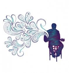 guitarist doodle vector image vector image