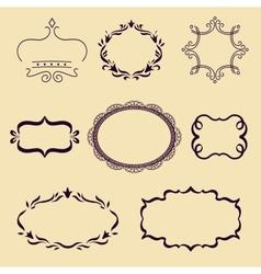 Set of frame vector image vector image