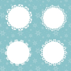 Snowflake backgrounds vector image vector image