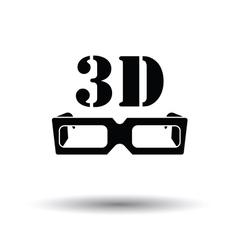 3d goggle icon vector