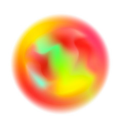 Abstract colorful blurred motion in sphere shape vector