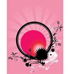 Abstract floral circle pink background 2 vector