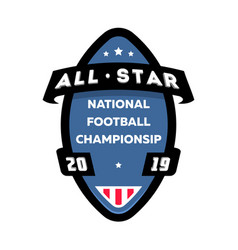 all star american football logo vector image