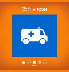 Ambulance symbol icon vector