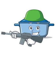 army kitchen character cartoon style vector image