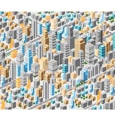 Background isometric city vector