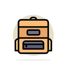 bag education schoolbag abstract circle vector image