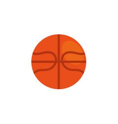 Balloon basketball workout accessory flat icon vector