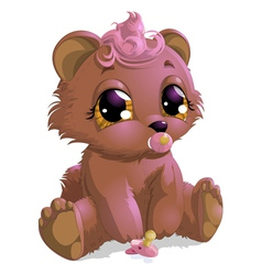 Bear boy vector