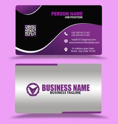 Best black pink business cards design psd eps vector