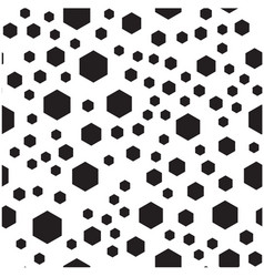 black hexagon pattern background image vector image