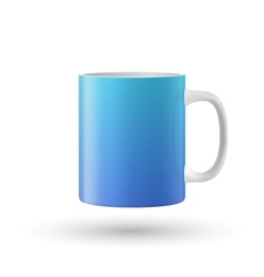 Blue cup isolated on white background vector