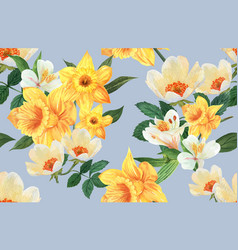 botanical pattern flower watercolor thanks card vector image